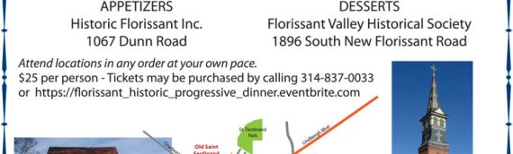 Progressive Dinner Party & Tours – May 17